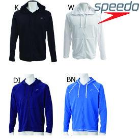 【送料無料】SPEEDO スピード メンズ アクアシャツ 長袖 フルジップ ラッシュガード エクササイズ フィットネス スポーツ メンズ【SD88L33】