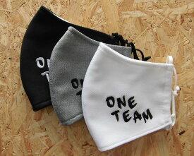 刺繍入り オリジナルハンドメイドマスク2 ONE TEAM(side)