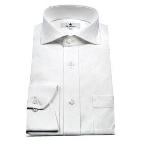 ワイシャツ 長袖 ノーアイロン ストレッチ メンズ スリム スリムフィット カッタウェイ ビジネス ニットシャツ アルティマ 吸水速乾 Yシャツ カッターシャツ ビジネスシャツ シャツ ビズポロ ホリゾンタル 白シャツ ホワイト Bonario 新生活 1004deal