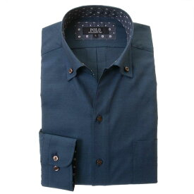 POLO B.C.S. 長袖ワイシャツ メンズ イタリアンカラー ボタンダウン |綿:60%/ポリエステル:40% ビジカジ