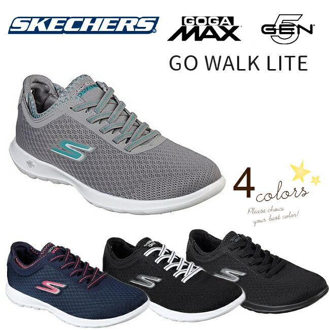 【送料無料・送料込(一部地域を除く)】 WOMEN'S Skechers GO WALK Lite - Dashing 15350 BKW(ブラック/ホワイト) NVPK(ネイビー/ピンク) CCTQ(チャコール/ターコイズ) BBK(ブラック)ウォーキングシューズ