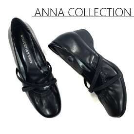 【送料無料・送料込(一部地域を除く)】 【ANNA COLLECTION(アンナ コレクション)】 kk529 ブラック 走れる 歩ける 痛くない ストラップパンプス