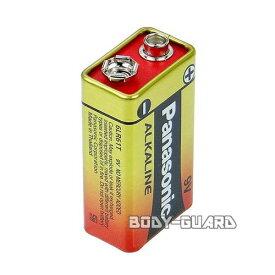 パナソニック アルカリ電池 9V 1本 乾電池 金パナ アルカリ 9V形 電化製品 電気製品 消耗品 使い切り 角形 四角 角型 玩具 おもちゃ用 ラジコン用 家電用 護身用 護身グッズ 武器 防犯グッズ ボディーガード
