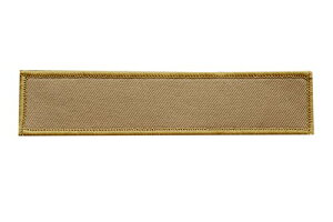 【送料無料】無地 ネームテープ ワッペン パッチ ベルクロ付 サバゲ タンカラー 茶色 D410P06Aug16
