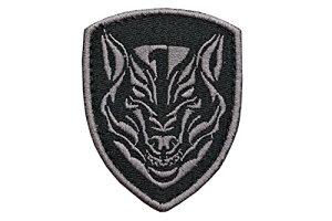 【送料無料】盾型 タイガー 虎 ワッペン パッチ ベルクロ付 ブラック 黒 D410P06Aug16