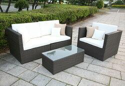 【ガーデンソファ・屋外家具】ラタン2人掛けソファ