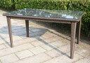 ラタン スクエアテーブル150【ガーデンテーブル・屋外家具】