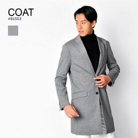 【53%オフ!】【さらにクーポンも使える!】コート メンズ ビジネス ロング グレー チャコール ブラック 黒 M L XL 2L LL チェスターコート ストレッチ EVOLUTION エボリューション hk エイチケー 81553