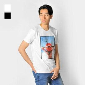 【メール便可(単品購入時)】EVOLUTION エボリューション Tシャツ メンズ 半袖 ロゴ ガールズフォトプリント 春夏秋 ホワイト ブラック 白 黒 M L XL LL 2L 91224