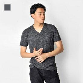 【限定クーポン発行中!】【メール便可(単品購入時)】tシャツ メンズ 半袖 白 M L XL Vネック ホワイト グレー スラブ ニット ティーシャツ カットソー EVOLUTION エボリューション hk エイチケー 91229