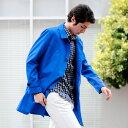 スプリングコート メンズ シャツコート コート メンズ ビジネス 3Lサイズまで揃う 大きいサイズ ステンカラーコート ロングコート カジュアルな着こなしに軽い...