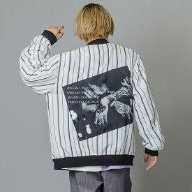 RE730 セブンサーティー MA1ジャケット メンズ ビッグシルエット ストリート系 B系 ヒップホップ系 春 秋冬 ホワイト ブラック 白 黒 M L XL 2L LL 92103 hk エイチケー