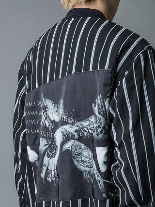 RE730セブンサーティーMA1ジャケットメンズビッグシルエットストリート系B系ヒップホップ系春秋冬ホワイトブラック白黒MLXL2LLL92103