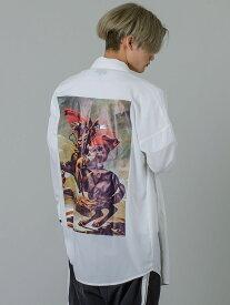 RE730 セブンサーティー ビッグシルエットドルマンスリーブシャツ メンズ 春夏 秋 モード ストリート ダンス 韓国ファッション 韓国スタイル ホワイト 白 M L 92147 hk エイチケー