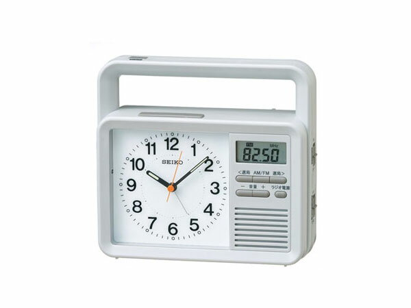 日用品雑貨 セイコー SEIKO 目覚まし時計 充電つき防災クロック KR885N