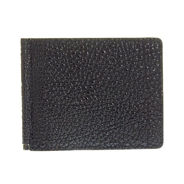 日用品雑貨 メンズ リベロ LIBERO 黒桟革 札ばさみ マネークリップ メンズ LY1202-BK ブラック