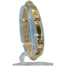 生活日用品 MARE(マーレ) スワロフスキー&ゲルマニウム5個付ブレスレット GOLD/IPミラー 114G S (17.7cm) H9271-08S