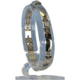 生活日用品 MARE(マーレ) スワロフスキー&ゲルマニウム5個付ブレスレット PT/IPミラー 115G M (18.7cm) H9271-07M