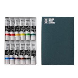 生活日用品 ターナー色彩 アクリルガッシュ 40mlラミネートチューブ入り 12色セット AG04012C