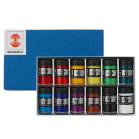 生活日用品 ターナー色彩 ポスターカラー 40ml瓶入り 12色セット PC04012C