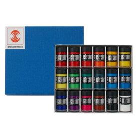 生活日用品 ターナー色彩 ポスターカラー 40ml瓶入り 18色セット PC04018C