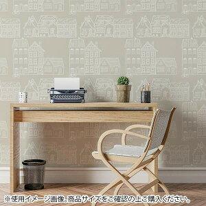便利 グッズ アイデア 商品 貼ってはがせてのり残りしない壁紙 北欧シリーズ 45cm×2.5m 家並 JK4556 人気 お得な送料無料 おすすめ