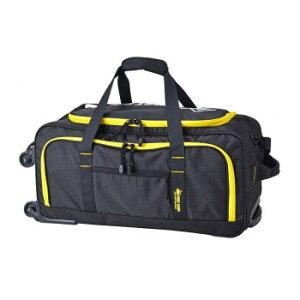 4輪ボストンキャリーバッグ ブラックイエロー 33023おすすめ 送料無料 誕生日 便利雑貨 日用品