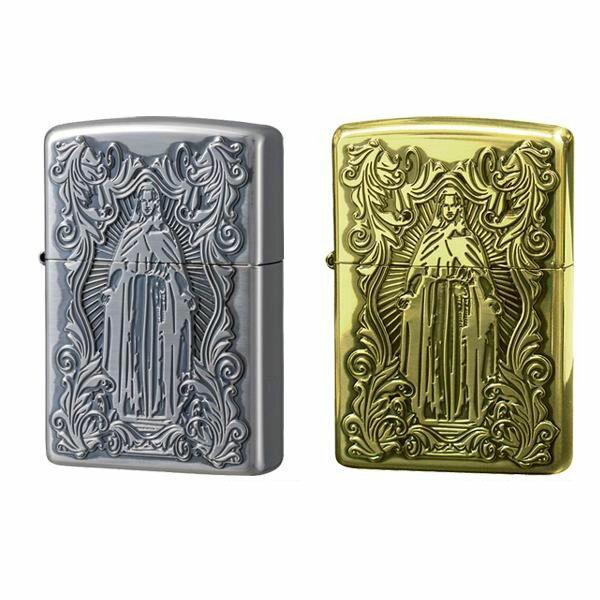 喫煙グッズ ZIPPO(ジッポー) ライター ディープエッチング アラベスクマリア 真鍮いぶし・63200598