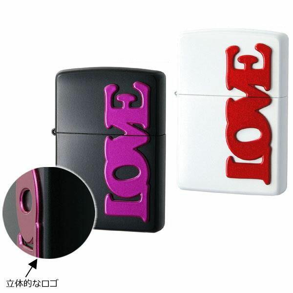 喫煙グッズ ZIPPO(ジッポー) ライター LOVE ホワイト・63330298