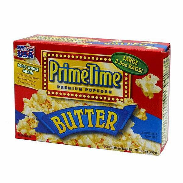 スイーツ・お菓子関連商品 434-012 プライムタイム (PrimeTime) マイクロウェーブポップコーン バター 99g 3P×12箱セット