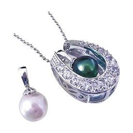便利雑貨 ネックレス おしゃれ 馬蹄形モチーフと本真珠のネックレス□ネックレス・ペンダント メンズジュエリー・アクセサリー ジュエリー・アクセサリー 関連