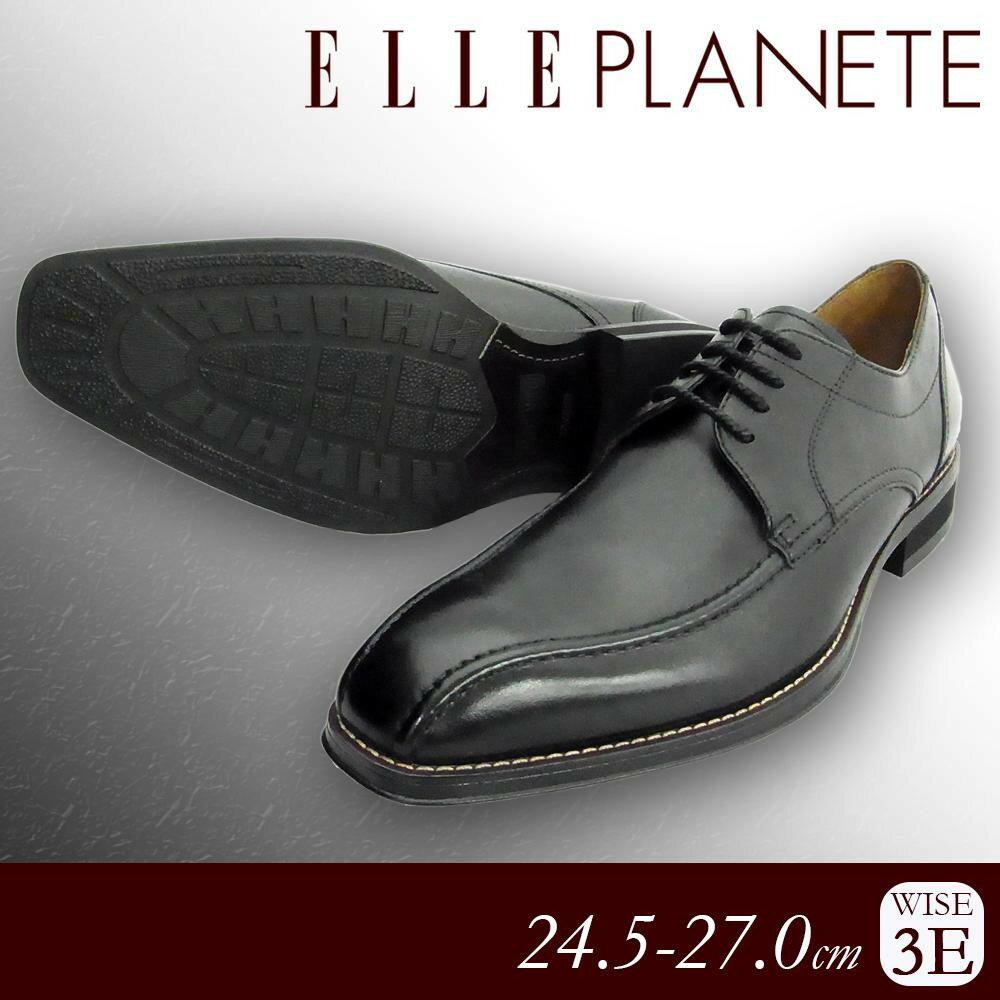 服飾雑貨関連商品 ELLE PLANETE 紳士メンズ 牛革ビジネスシューズ PT5012 ブラック 24.5cm