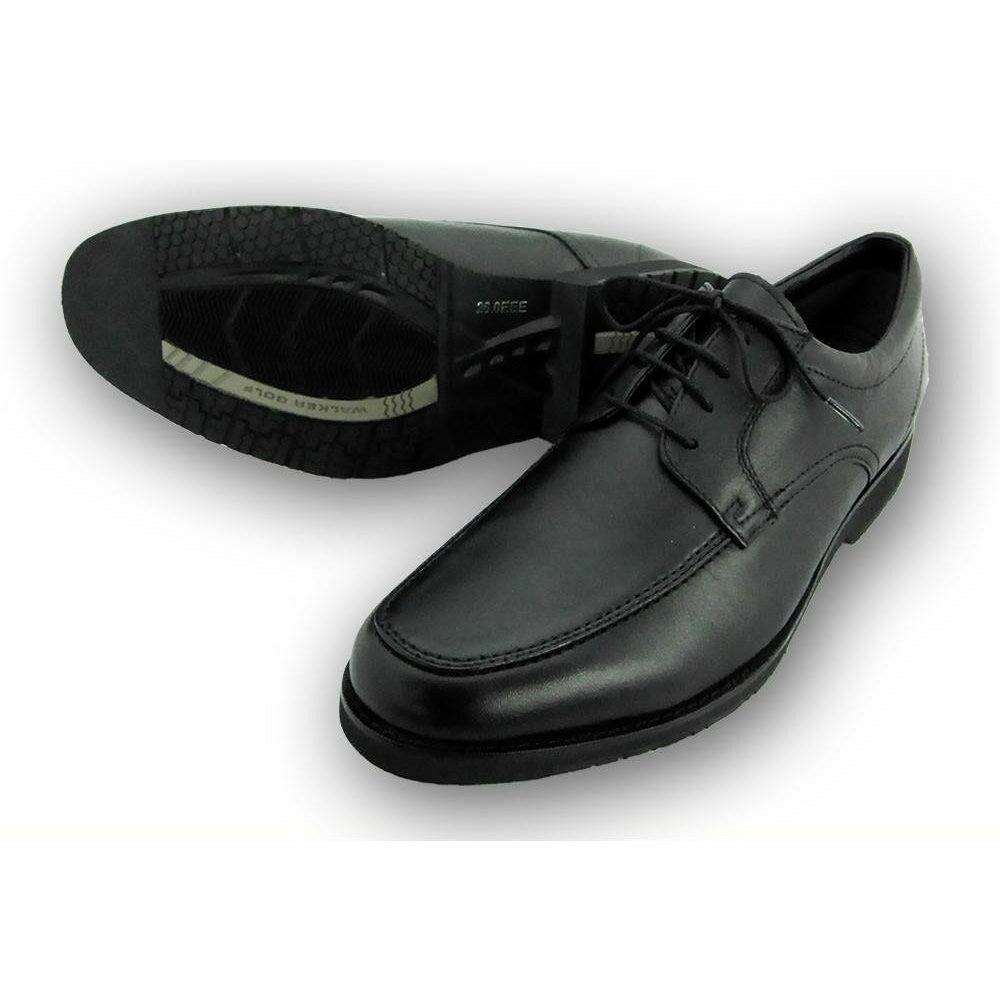 靴関連商品 WALKER GOLF 紳士メンズ 牛革ビジネスシューズ WG201 ブラック 24.5cm