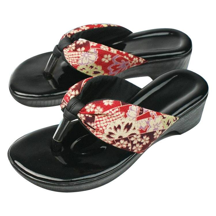服飾雑貨関連商品 美脚の和サンダル クロ M・SPP-10034