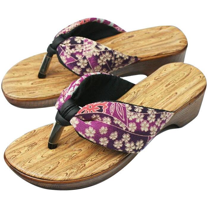 靴 関連商品 美脚の和サンダル 木目ブラウン M・SPP-10036