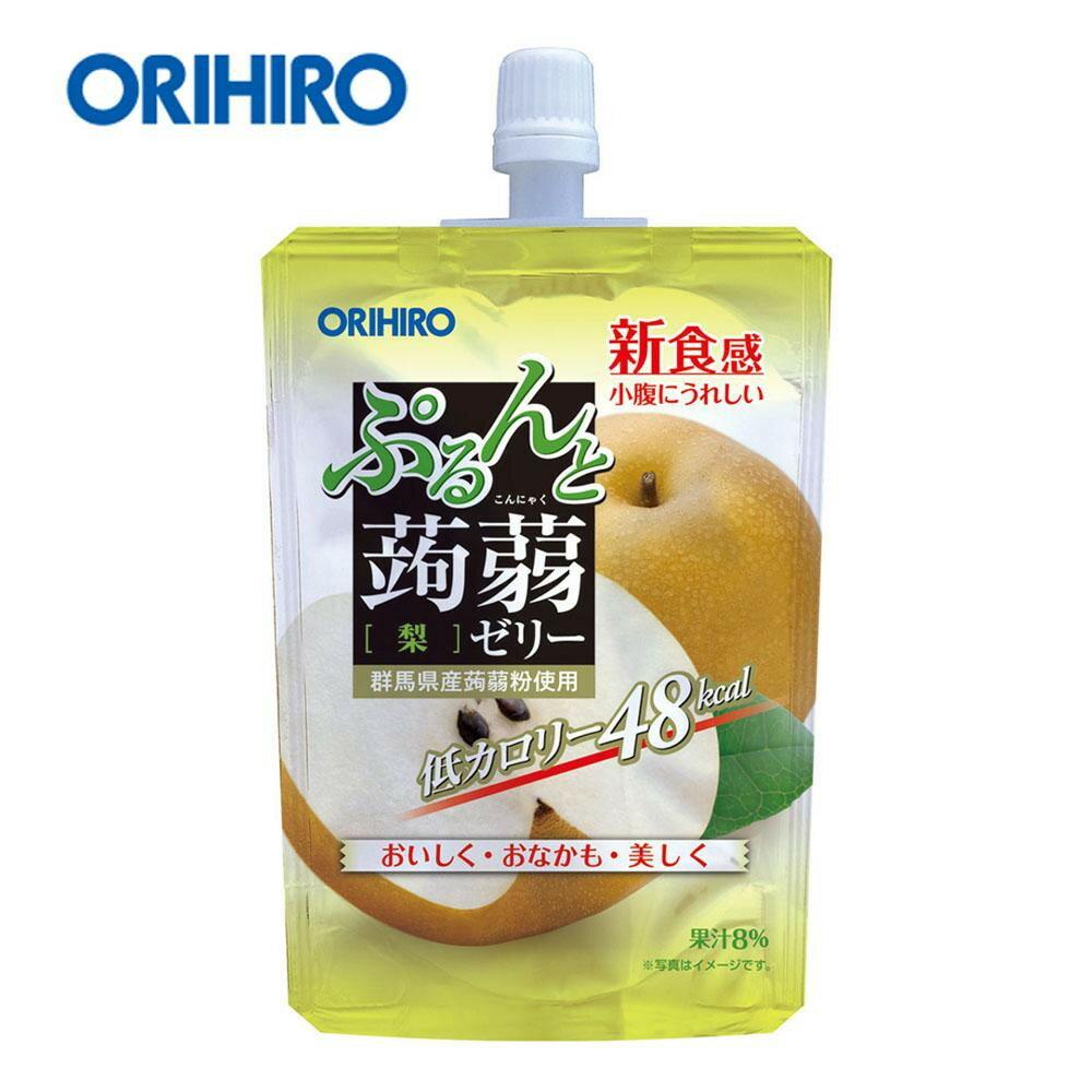 軽食品関連商品 オリヒロ ぷるんと蒟蒻ゼリー スタンディングタイプ 梨 1ケース(48個入) 60804236