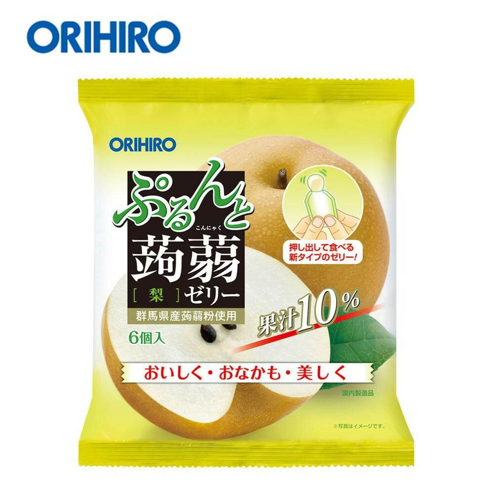 生活日用品関連商品 オリヒロ ぷるんと蒟蒻ゼリー パウチタイプ 梨 120g(20g×6個)×24袋 60816034