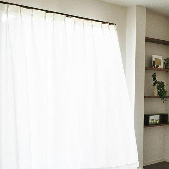 敷物・カーテン関連商品 エアロカプセル×すずしや(R) 断熱UVカット省エネレースカーテン ホワイト 150×198cm丈 2枚組