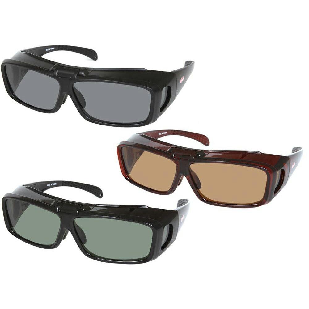 便利雑貨 Coleman(コールマン) メガネの上からかけられる偏光オーバーグラス 跳ね上げタイプ