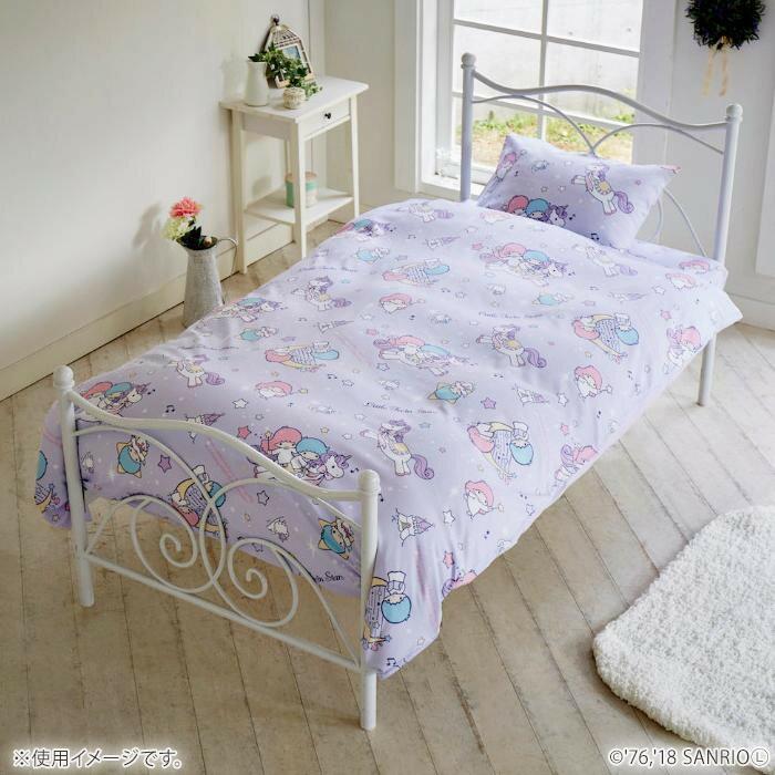 寝装・寝具関連 サンリオ キキララ カバーリング3点セット(枕カバー・掛布団カバー・シーツ) SB-410