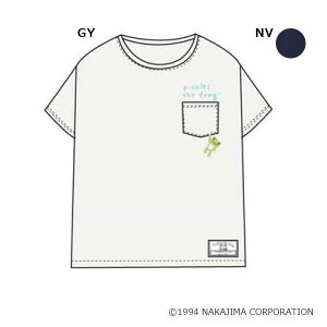 かえるのピクルス 胸ポケTシャツ M〜L PT40919 GY