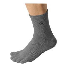 メンズ靴下・レギンス・スパッツ 関連 レインウェア WM ソックス 5本指タイプ V-911WM ライトグレー L:25-28