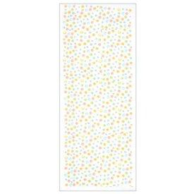 てぬぐい 関連 宮井 いせ辰 ガーゼ手拭い 湯上り 水玉 黄 綿65×135cm 18-8042-50