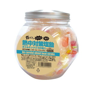 日用品 便利 ユニーク 熱中対策塩飴 ボトルミックス(100粒入り) BR-A100-U