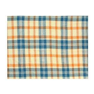 日用品 雑貨 通販 マルチクロス チェック ブルーオレンジ 145×225cm 11819880131 オススメ 送料無料