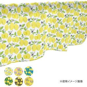 流行 生活 雑貨 カフェカーテン レモン 800×450mm 緑・40538