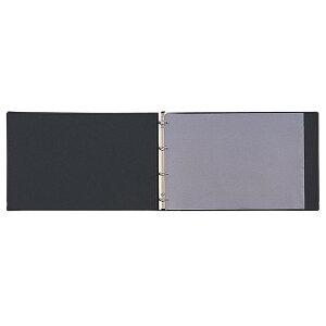 クリヤーブック ポケット交換式 A3・E型(4穴) 15ポケット D02056 1・ブラックお得 な 送料無料 人気 トレンド 雑貨 おしゃれ