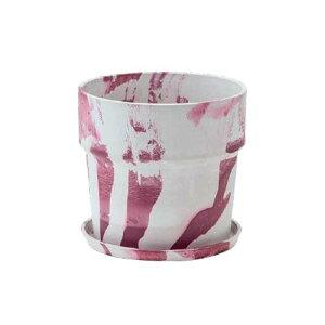植木鉢 マーブル ミルク/カシス 80993人気 お得な送料無料 おすすめ 流行 生活 雑貨