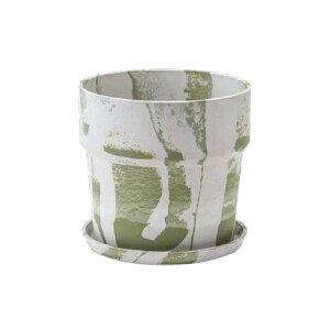 流行 生活 雑貨 植木鉢 マーブル ミルク/ピスタチオ 80996