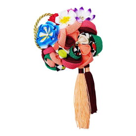 生活 雑貨 通販 レトロポップな和風髪飾り 224-021 サーモン